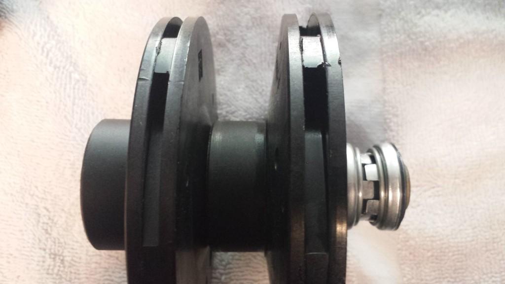 Correct impeller on left